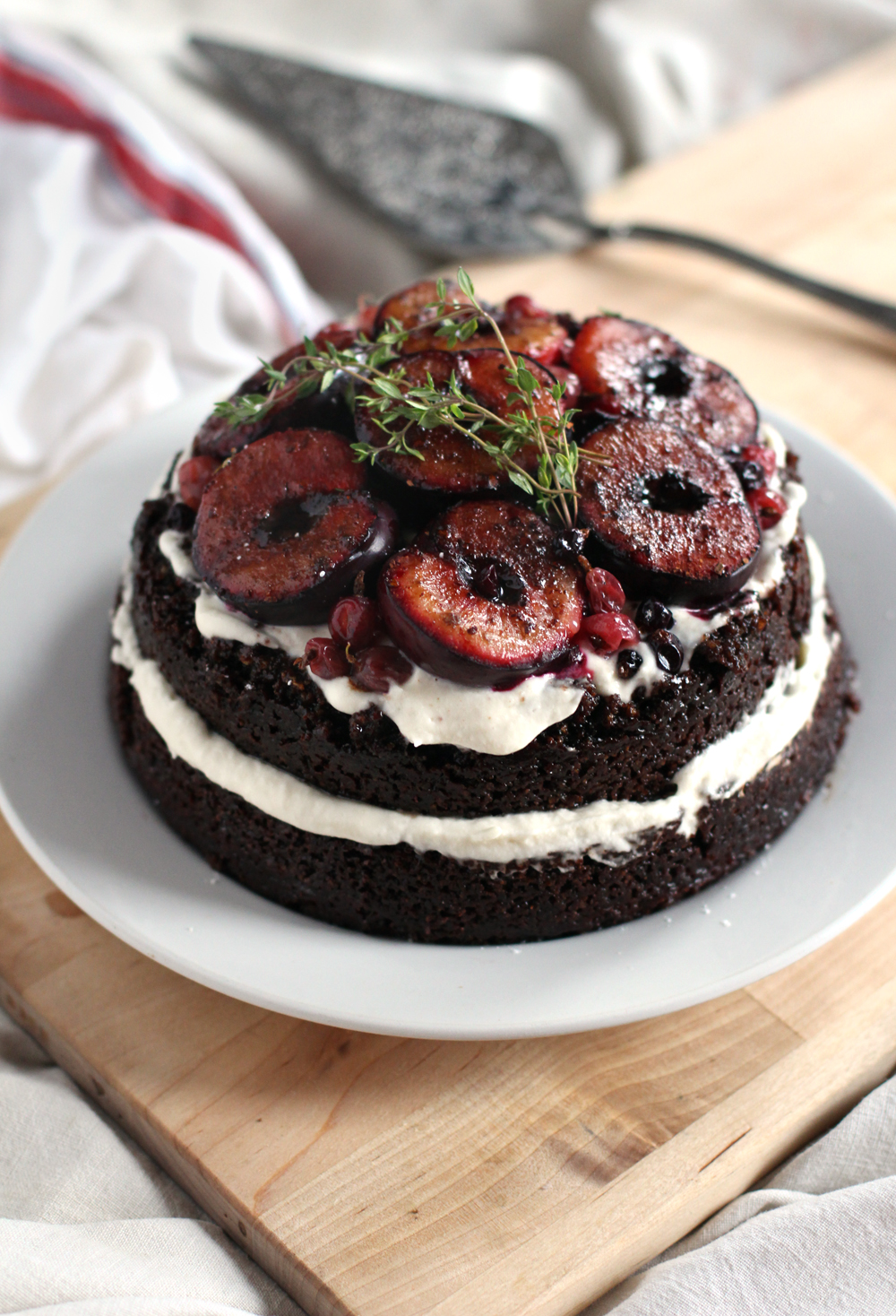 Plum Almond Cake Gluten Free