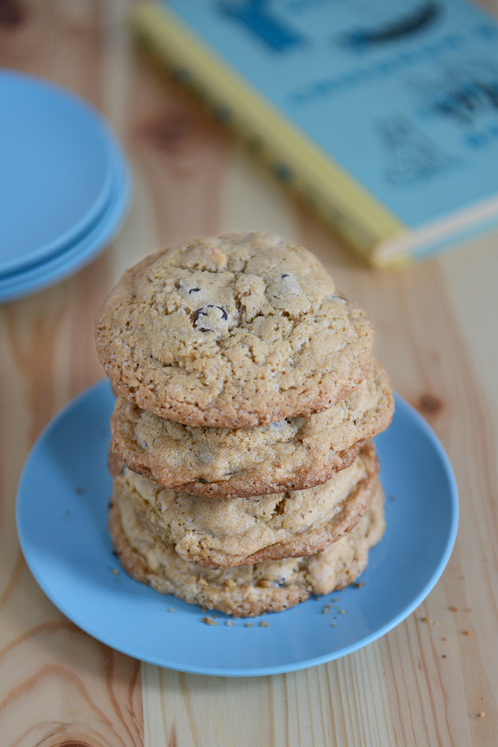 Whole Wheat Chocolate Chip Cashew Cookies // www.WithTheGrains.com