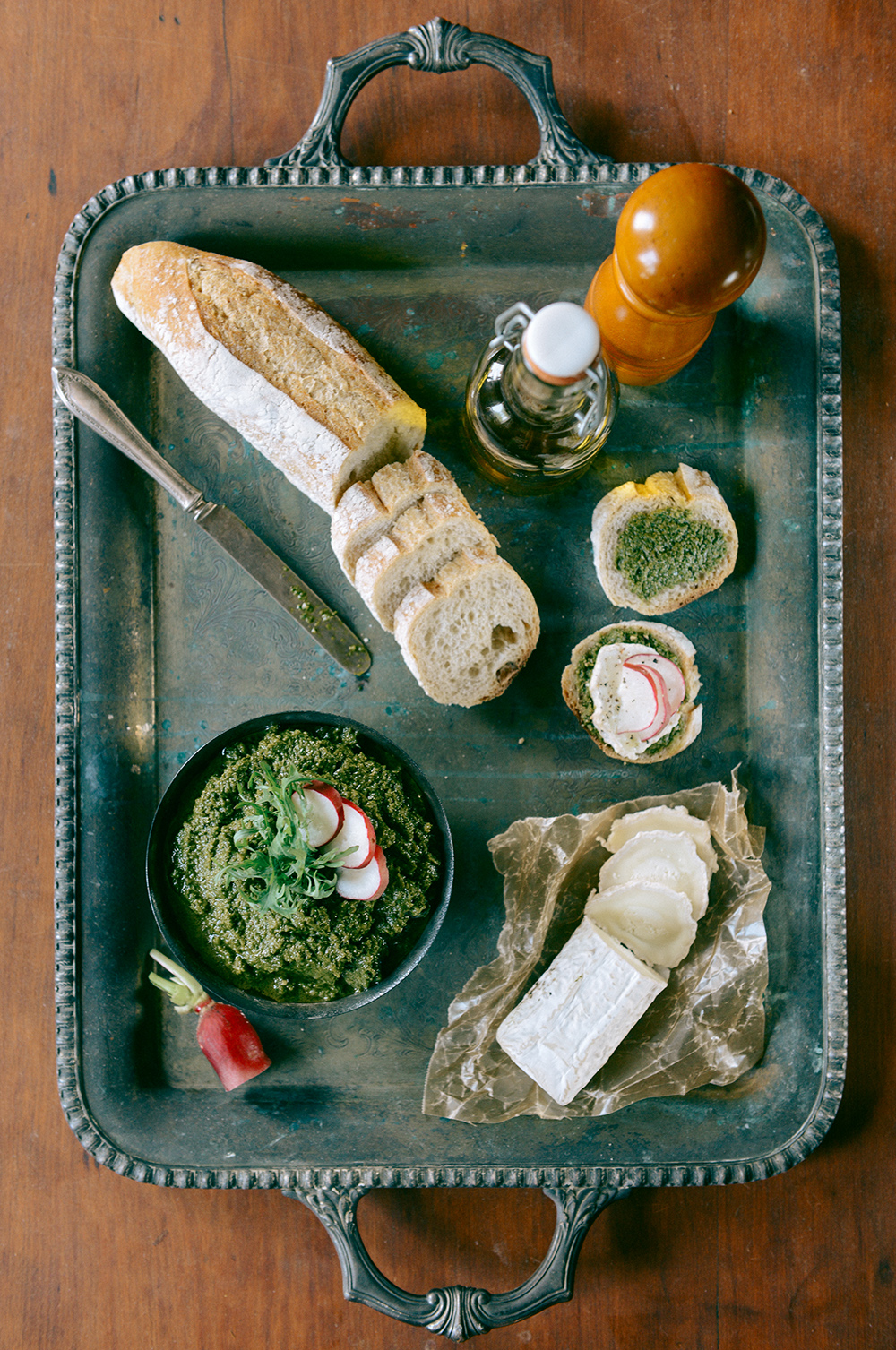 Radish Pesto // www.WithTheGrains.com