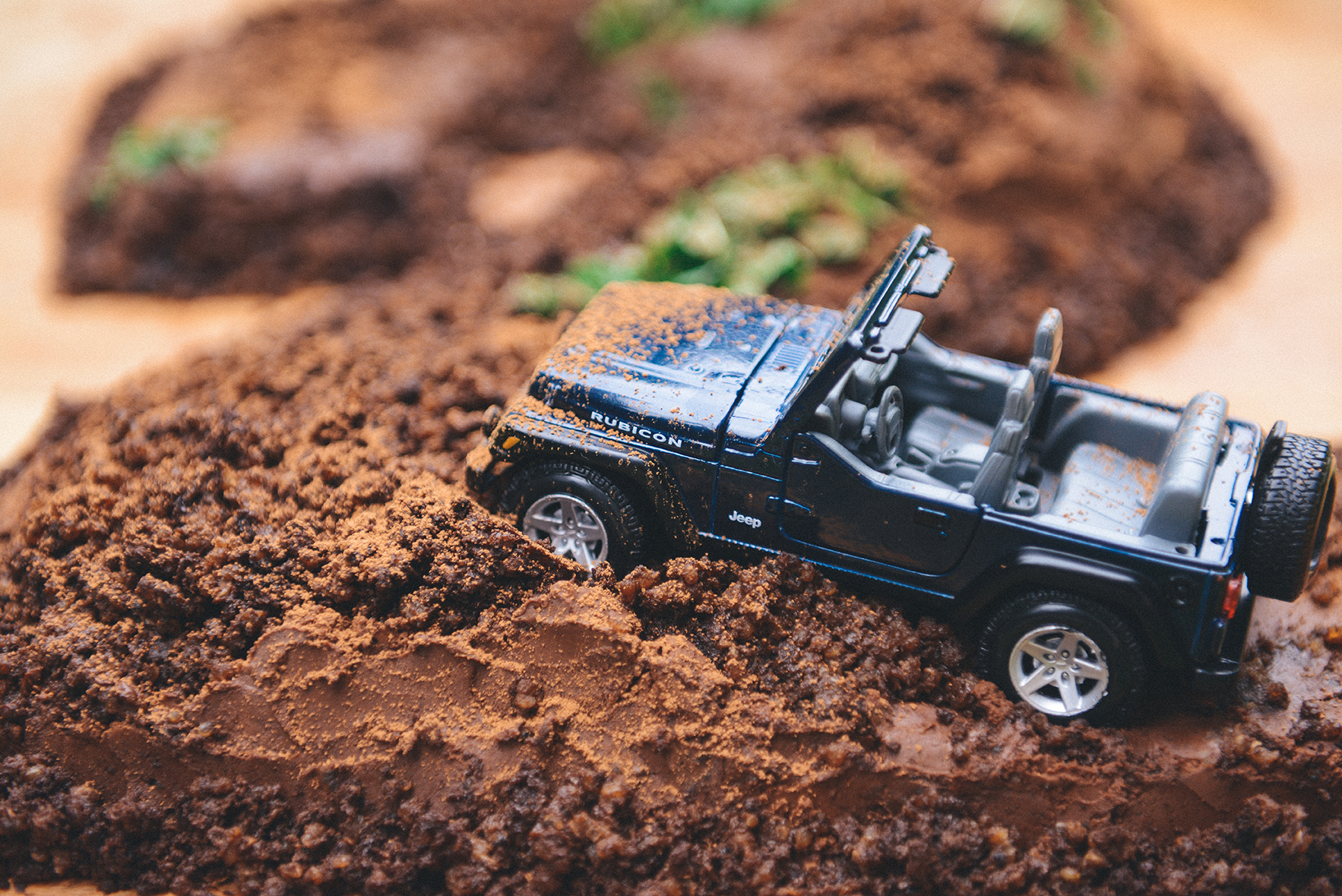 A Gluten Free Jeep Themed Dark Chocolate Quinoa Cake For A 2nd Birthday With The Grains